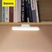 Baseus manyetik masa lambası USB masa lambası kablosuz dokunmatik LED asılı USB lamba şarj edilebilir kademesiz karartma dolap led'i gece lambası