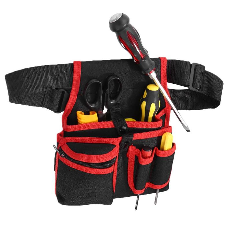 Wear-resistant Tool Bag Durable Polyester Hardware Electrician Waist Pack Hammer Pliers Pouch Repair Tools Storage