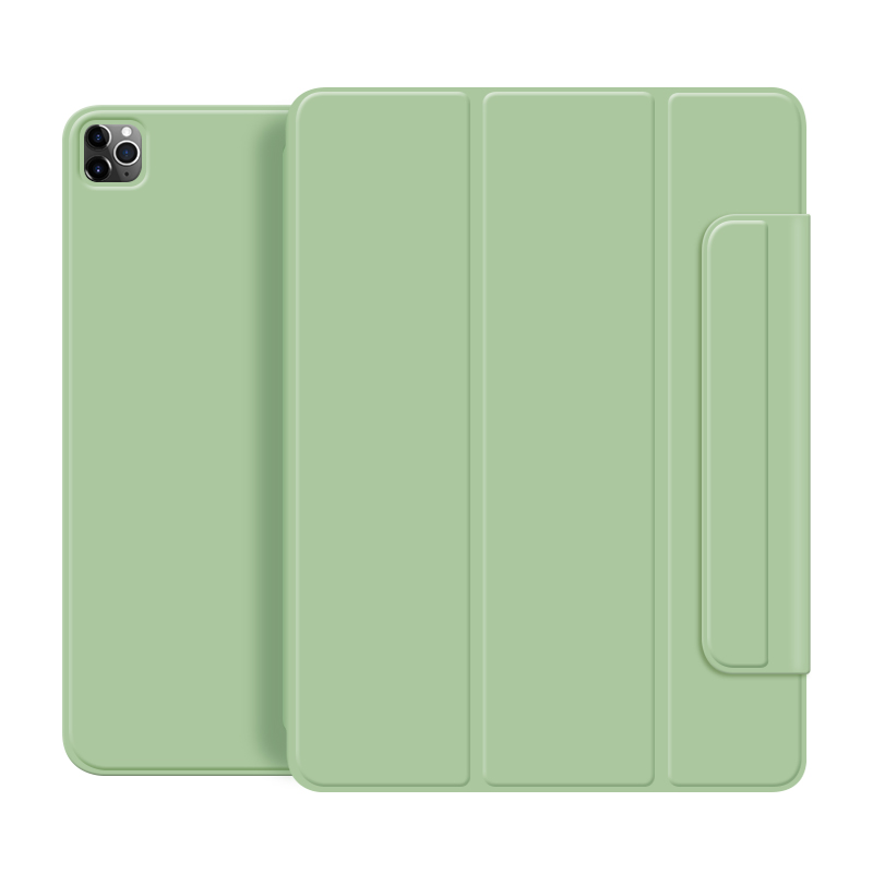 Matcha green Green For iPad Pro 2020 12 9 inch case Smart cover Tri fold magnet Back protector Buckle