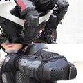 4 pçs/set Ajustável Motocicleta Protetor de Cotovelo Joelho Pads Acessórios de Moto Proteção Joelheira Equipamentos de Proteção de Segurança