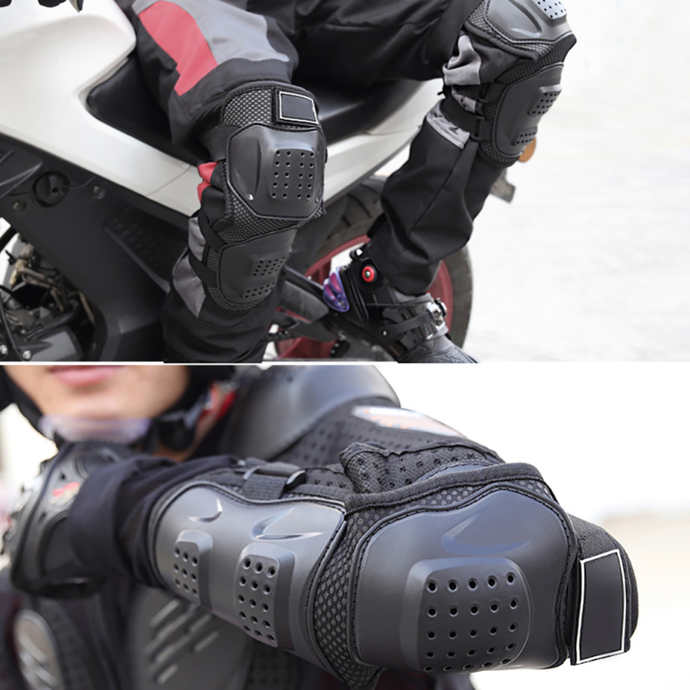 4Pcs Set Adjustable Motorcycle Elbow Protector Knee Pads Safety Protective Gear Moto Accessories Kneepad Protection