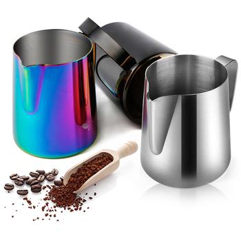 Dzbanek ze stali nierdzewnej dzbanek do spieniania mleka kafiatera do espresso narzędzia baristy dzbanek do kawy Latte dzbanek do spieniania mleka dzbanek tanie i dobre opinie STAINLESS STEEL