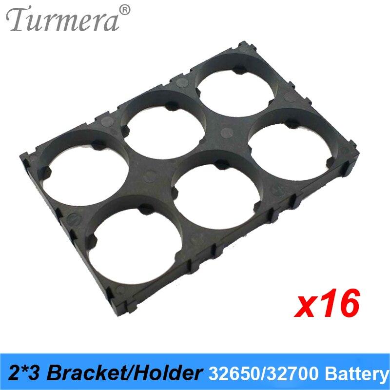 Turmera 32650 32700 2*3 держатель батареи кронштейн безопасности ячеек антивибрационные пластиковые скобы для 32650 32700 батарейный блок 16 шт.| |   | АлиЭкспресс