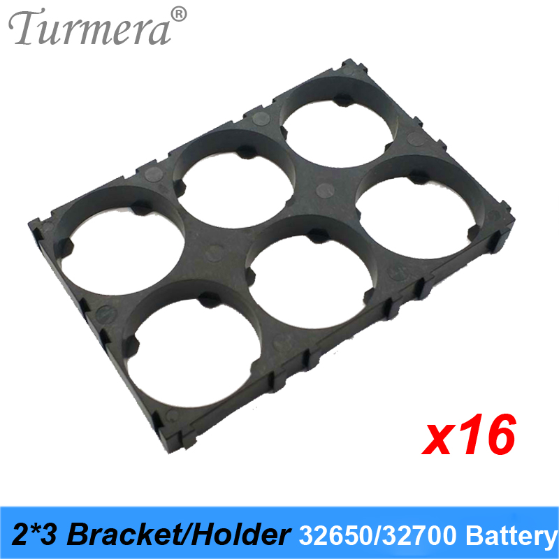 Turmera <font><b>32650</b></font> 32700 2*3 <font><b>Battery</b></font> <font><b>Holder</b></font> <font><b>Bracket</b></font> Cell Safety Anti Vibration Plastic <font><b>Brackets</b></font> For <font><b>32650</b></font> 32700 <font><b>Battery</b></font> Pack 16pieces image