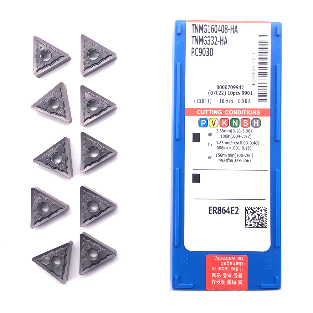 Inserts PC9030 External-Turning-Tool Stainless-Steel TNMG160408 100%Original HA for High-Quality