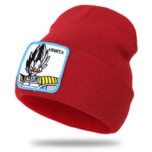 2019 autumn and winter new anime seven dragon beads series Vegeta VEGETA embroidery patch wool knit hat