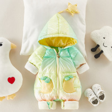 2020 Baby Winter Candy Snowsuit Plus Velvet Thick Baby Boys Jumpsuit 0-2 Years Newborn Romper Baby Girls Overalls Toddler Coat