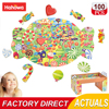 Hahowa Fruit Apple Banana Irregular Shape Jigsaw Puzzle High Difficulty Educational Toy For Kids 100 Pieces Birthday Gifts