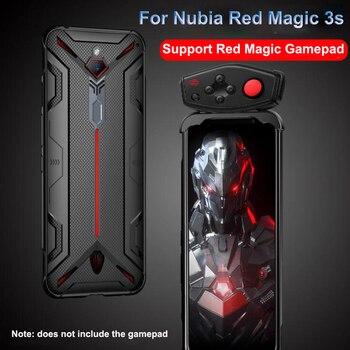 Перейти на Алиэкспресс и купить Ударопрочный защитный ТПУ мягкий чехол для телефона zte Nubia Red Magic 3S Чехол теплоотвод крышка поддержка геймпада RedMagic 3S