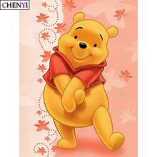 CHENYI 5D DIY Diamond Painting Winnie the Pooh Full Diamond Embroidery Cross Stitch Cartoon Needlework Mosaic Picture Home Decor 5d full square diamond painting pooh bear mosaic winnie the pooh decor diamond rhinestone embroidery cross stitch home f335
