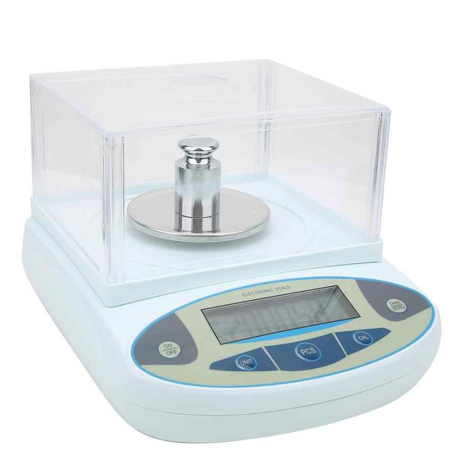100-240V Analytical Balance 200g x0.001g 1mg Lab Analytical Balance Digital Jewelry Scale with 200g Weight