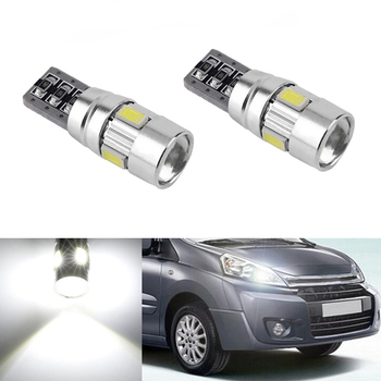 2x T10 W5W 5630smd LED Clearance Light with Projector Lens For Citroen C4 C5 C3 Grand Picasso Berlingo Xsara Saxo C1 C2 ds3 image