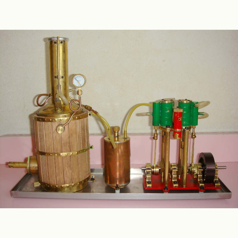 Metal Double Cylinder Steam Engine Handmade Customizable Steam Engine