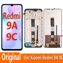 Original Screen For Xiaomi Redmi 9A LCD Display Touch Screen Digitizer With Frame For Redmi 9C Lcd Glass Display Accessories