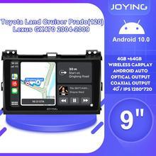 "9""Car Stereo 1 Din Radio With Screen Autoradio Android 10 Head Unit DVR For Toyota Land Cruiser Prado(120) Lexus GX470 2004 2009"