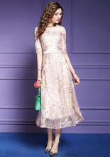 Zuoman женское длинное роскошное колье с вышивкой платье сеткой