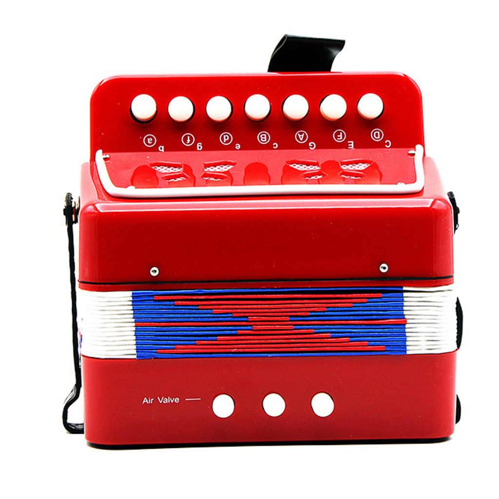 الاطفال الأكورديون لعبة الموسيقى التعلم المبكر الاستنباط أداة عيد الميلاد هدية الأحمر