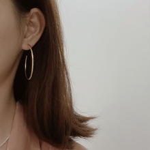 High quality fashion simplicity vintage sterling silver 925 gold pattern earrings for women anniversary gift