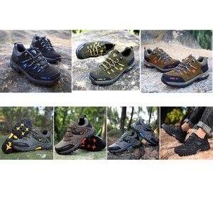 Image 5 - GOMNEAR Zapatillas de senderismo para hombre, zapatos de Trekking y pesca al aire libre, impermeables, para turismo, deportes de acampada, caza, botas de cuero