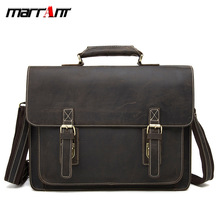 Mens bag crazy horse leather mens retro first shoulder Messenger briefcase men