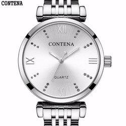 Neue Ultra-dünne frauen Uhren 2017 Top marke Luxus Edelstahl Quarz Wasserdichte Armbanduhr für Frauen Relogio feminino