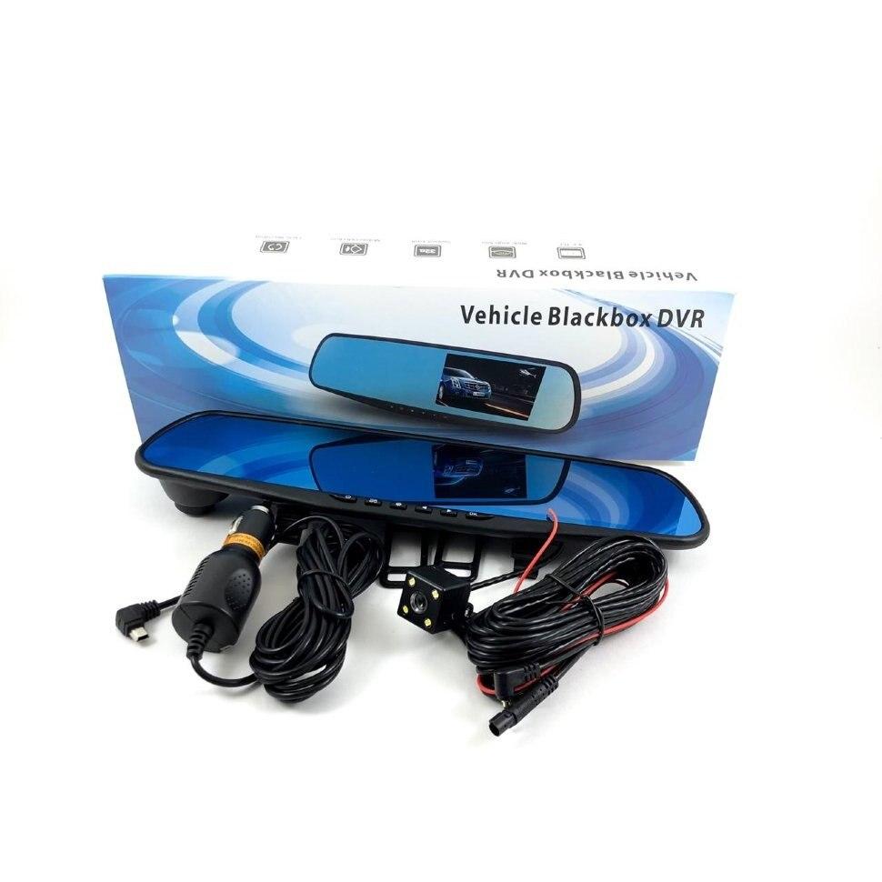 Araba dvr'ı aynası araç Blackbox DVR HD dokunmatik ekran ile 1080 kaydedici dikiz aynası 4.3