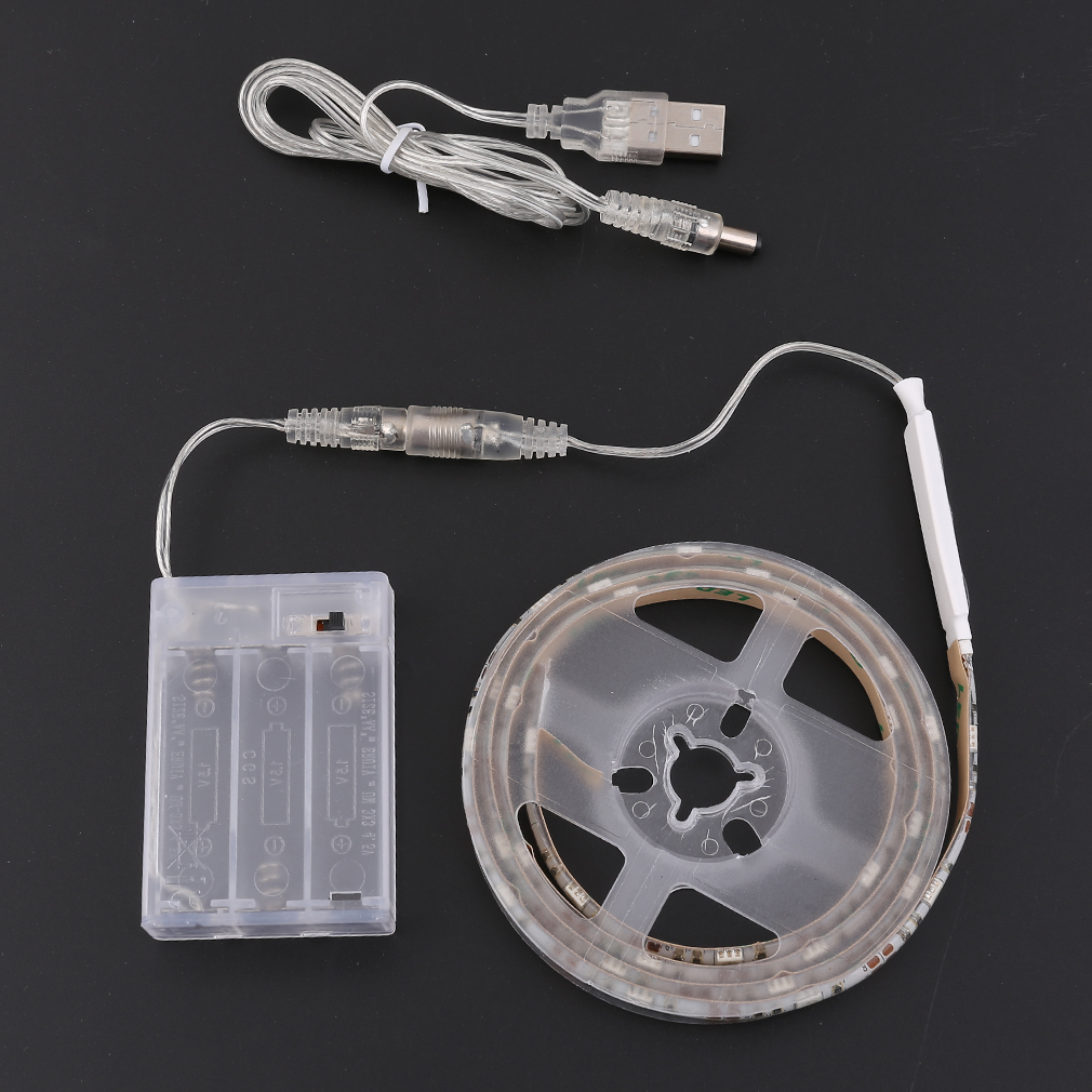 4.5V Battery Operated 50/100/150/200cm RGB LED White Strip Light Waterproof Craft Hobby Light With Battery Box Christmas Decor