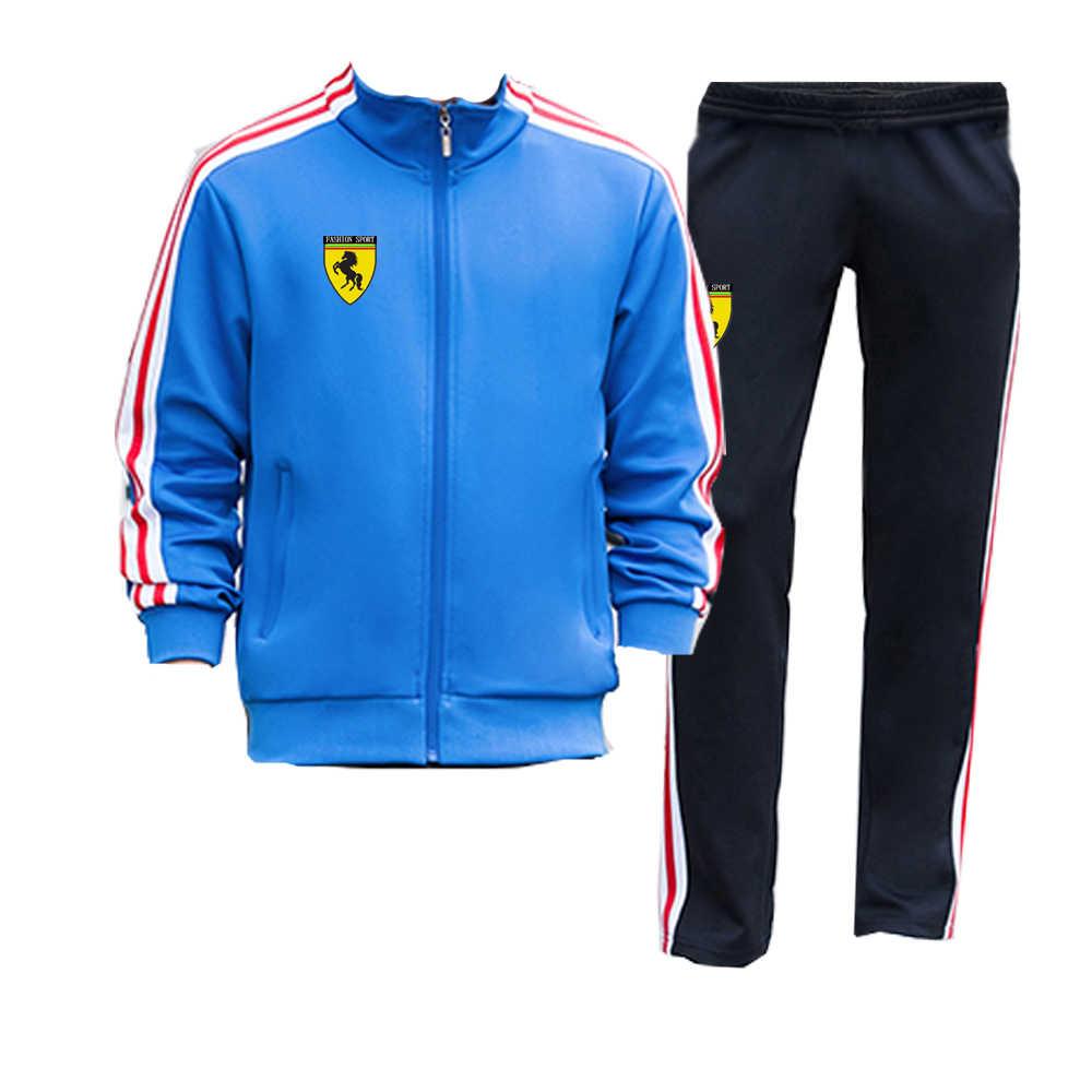 Mens Full Tracksuit Set Jackets Bottoms Sweat Pants Sport Jogging Track Suit Gym