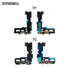 USB Charger Port Dock Connector Flex Cable+Headphone Audio Jack Replacement Part For iphone 7 7G Plus Charging Flex cltgxdd 5pcs 10pcs for huawei honor v10 usb charger charging connector port flex with headphone earphone audio jack port