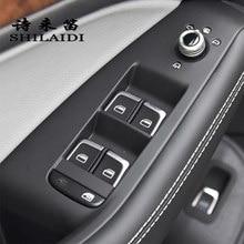 Araba Styling için Audi A3 8V S3 Q3 A4 B8 A6 C7 Q5 iç kapı pencere camı anahtarı düğmeler çerçeve çıkartmalar kapakları Trim aksesuarları
