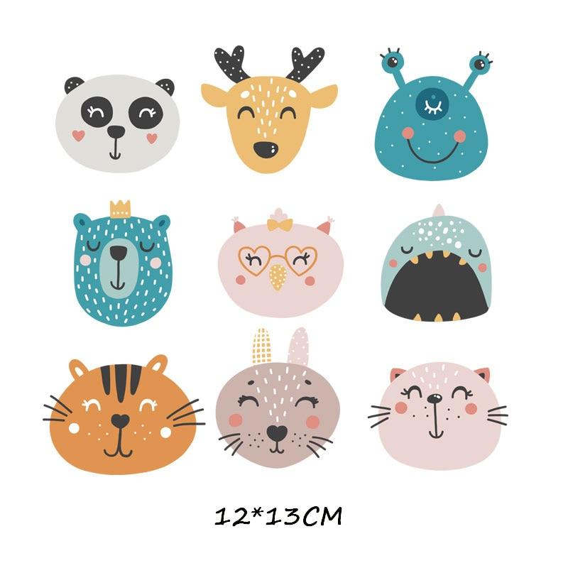 Мультяшный пони, единорог, динозавр, железная нашивка, теплопередача, одежда в полоску, футболка для мальчиков и девочек, сделай сам, волшебная наклейка на заказ - Цвет: ZT0774