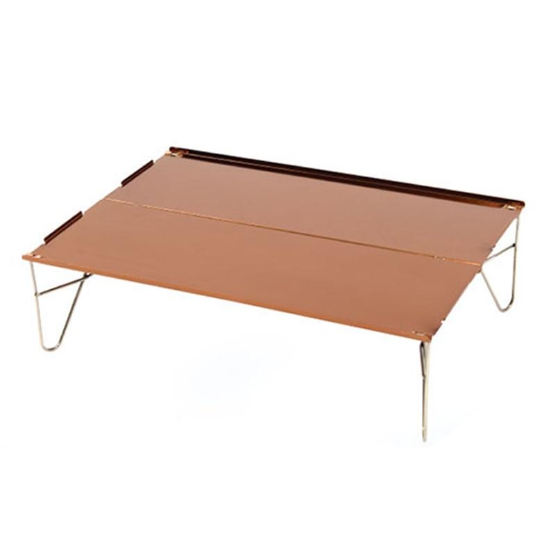 Spor ve Eğlence'ten Dış Mekan Aletleri'de Taşınabilir Mini Ultra hafif alüminyum katlanır kamp masası uyar piknik açık barbekü 1 kişi kullanımı title=