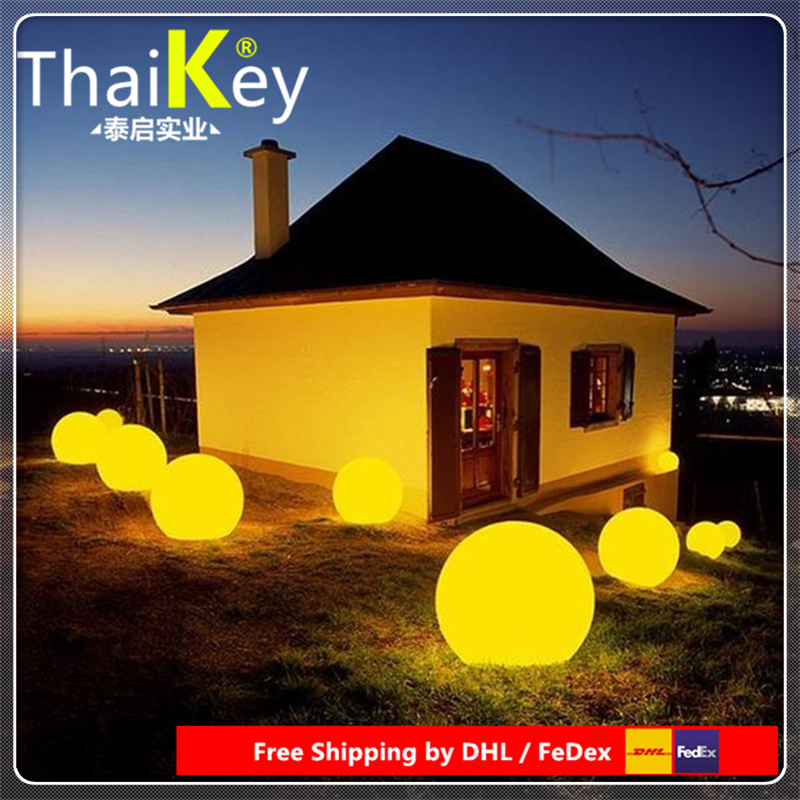 Dia25cm Rechargeable RGB LED Light Ball 24Key Remote Control 16-Colour Night Glowing LED Sphere By DHL FEDEX