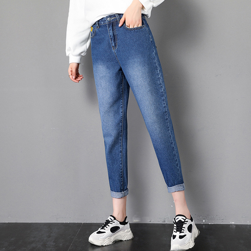 JUJULAND Jean Jeans For Women With High Waist Pants For Women Plus Up Large Size Jeans Woman Denim Modis Streetwear 8078