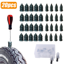 20pcs Motorcycle Vacuum Tyre Repair Nail Car Scooter Bike Universal Tubeless Rubber Nails Tire Puncture Repair Accessories