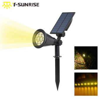 T-SUNRISE  Waterproof 7 LEDs Solar Powered Light Outdoor Garden Lighting Landscape Wall light 3000K Warm White - DISCOUNT ITEM  32% OFF All Category