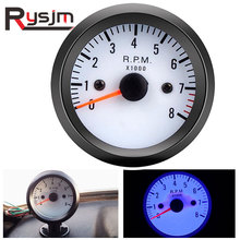 """ 52 мм 12 В синий светодиодный Тахометр для автомобиля 0~ 8000 об/мин тахометр с датчиком для бензинового мотоцикла грузовика/ATV tacometro RPM"