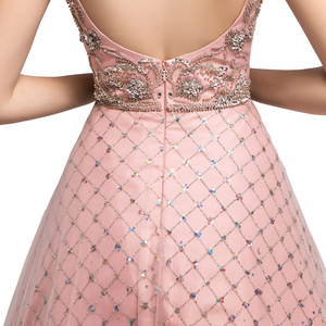 Image 5 - New Dubai Ball Gown Celebrity Dress Long 2021 Arabic Women V neck Sleeveless Evening Party Red Carpet Gown Robe De Soiree L5508