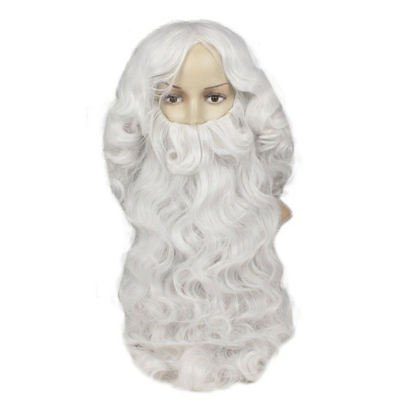 Deluxe Santa Claus Wig + Beard Set Costume Cosplay Wig Christmas Fancy Xmas Gift