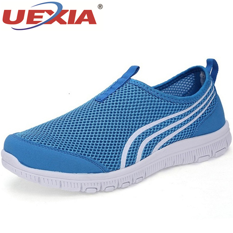 UEXIA Breathers Loafers Summer Fashion Hollow Sneakers Mens Shoes Slip On Casual Comfortable Lightweight Footwear Flats Big Size