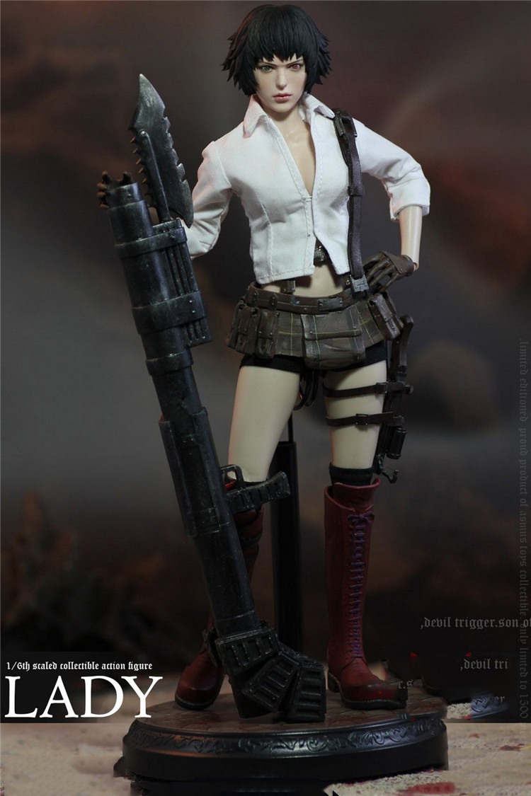 LADY DMC III Full Set Action Collectible In Stock DMC302 1/6 Scale Figure Head Body Clothes Model for Fans Gifts