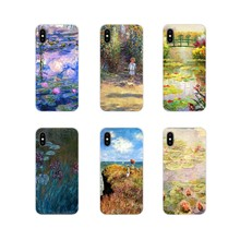 For LG G3 G4 Mini G5 G6 G7 Q6 Q7 Q8 Q9 V10 V20 V30 X Power 2 3 K10 K4 K8 2017 Monet Garden Lotus New TPU Transparent Cases Cover(China)