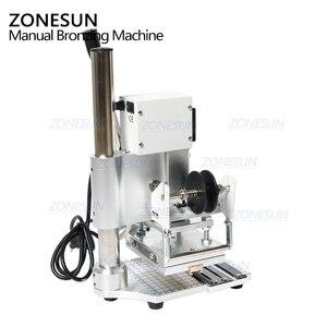 Image 4 - ZONESUN Machine destampage à chaud à double usage, Machine à bronzer, gaufrage pour cartes PVC, gaufrage pour cuir et bois