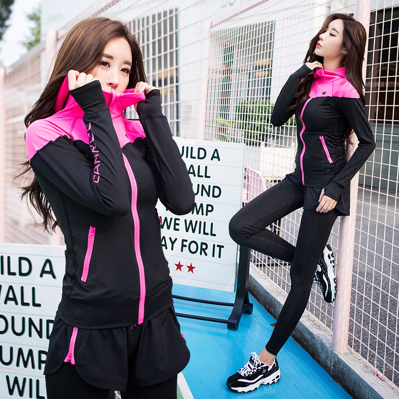 2017 New Style Yoga Clothes Suit Women's Autumn And Winter Slimming Quick-Dry Casual Sports Two-Piece Set Profession Fitness Jog