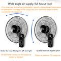 220 В Электрический настенный вентилятор 16 дюймов промышленный настенный вентилятор для домашнего ресторана с качающейся головкой бесшумны...