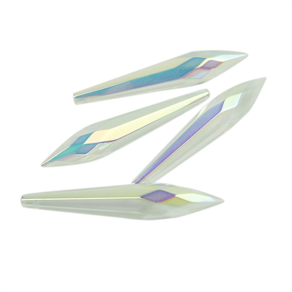 38mm / 63mm / 76mm AB Crystal Icicle U Damla Kristal Çilçıraq - İşıqlandırma aksesuarları - Fotoqrafiya 6