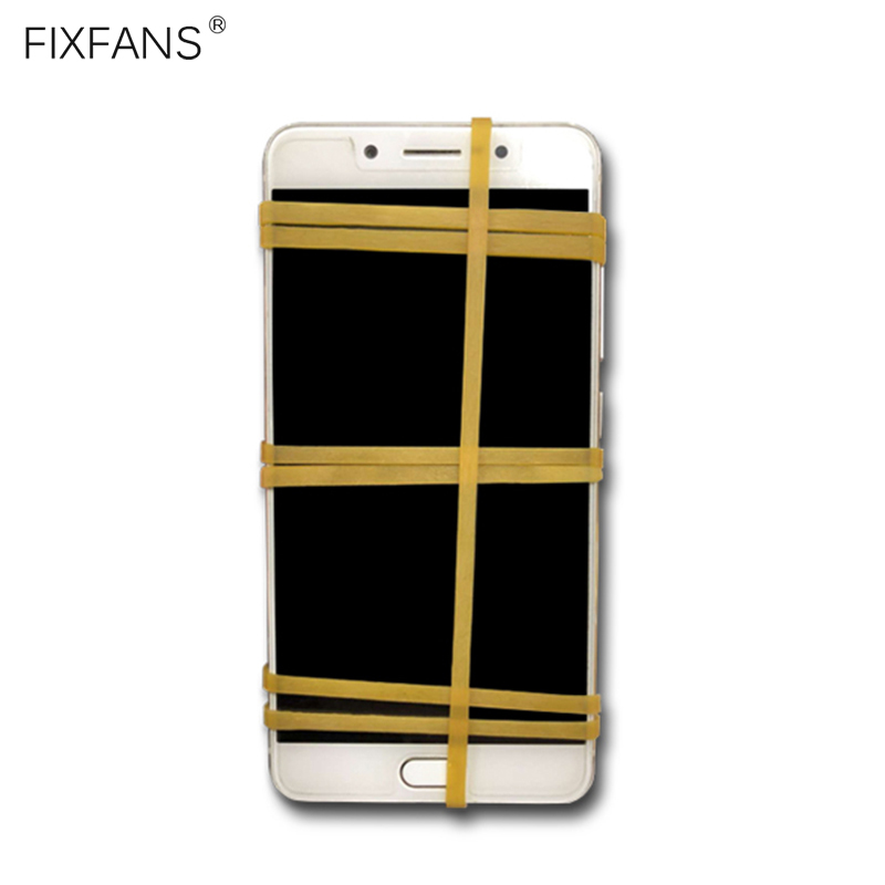 FIXFANS 20Pcs 3mm Wide Elastic Rubber Bands For Cell Phone LCD Screen Fastening Repair Tools, No Harm To Screen