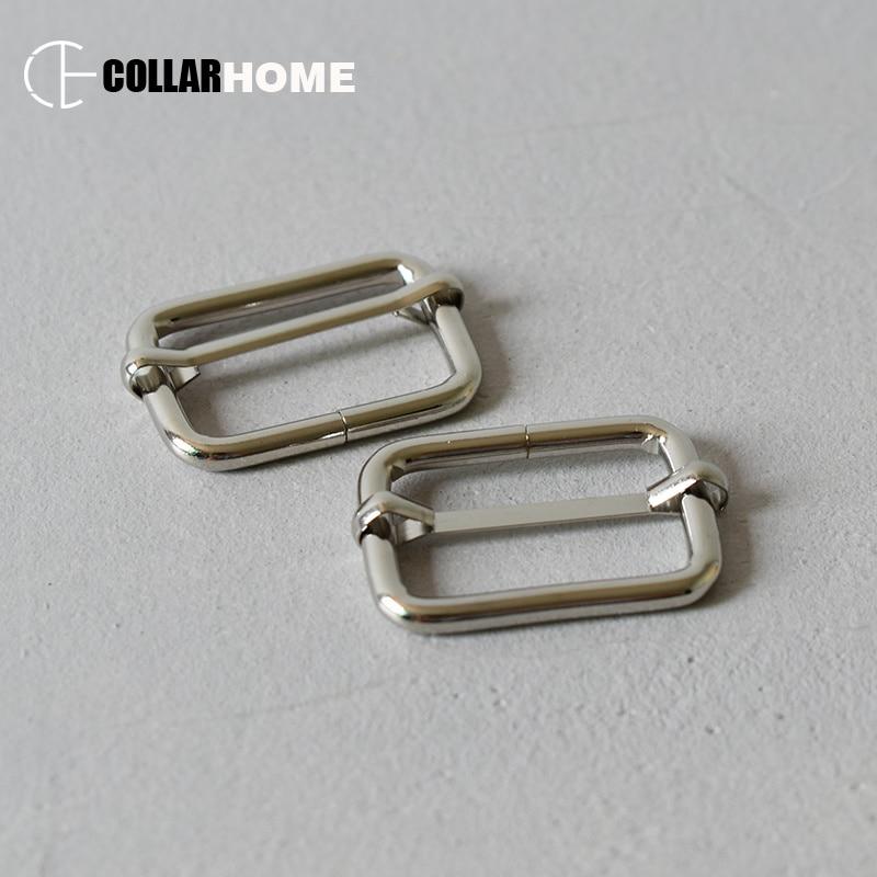 20pcs Metal Adjustment Sliders For 30mm Belt Hardware Bags Dog Collar Handmade DIY Accessories High Quality Three Roller Buckle