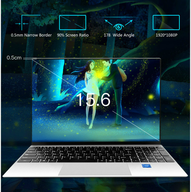 15.6 Inch Core i5-4200U Intel Laptop 8GB RAM 64G-1024G SSD Windows 10 Metal Office Notebook Computer Gaming Working Laptop 3