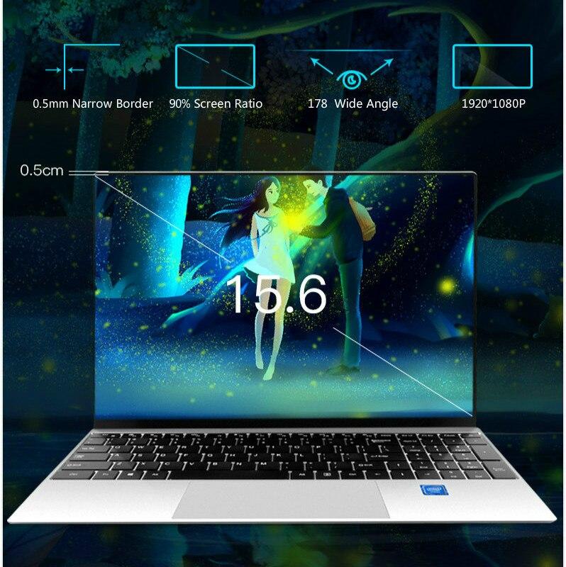 15,6-дюймовый процессор i5-4200U ноутбук Intel 8 ГБ ОЗУ 64 ГБ-1024 ГБ SSD Windows 10 металлический офисный ноутбук игровой ноутбук
